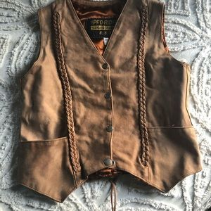 Jackets & Blazers - The best tan leather snap front vest